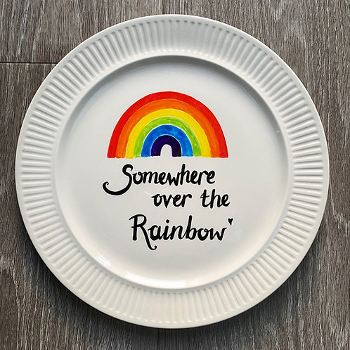 Rainbow Plate by Karen H King