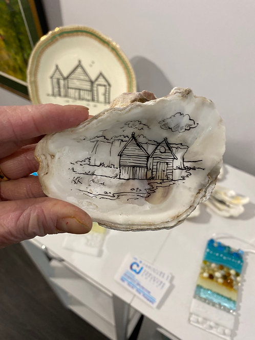 Hand Drawn Oyster Shell