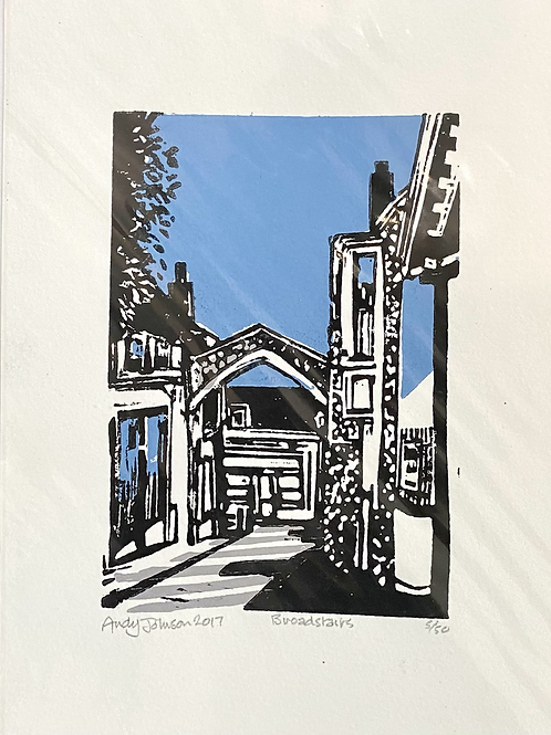 York Gate Broadstairs linocut by Andy Johnson