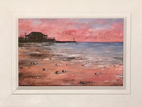 Pink Light, Viking Bay Broadstairs by Karen Hiscock-Lawrence