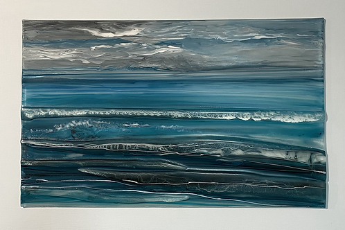 Fused Glass panel by Christine Jeffryes