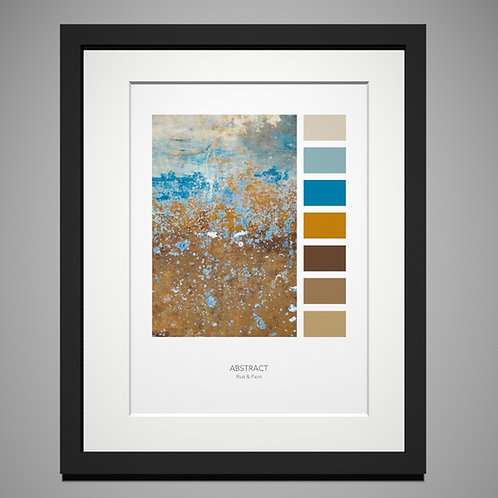 Rust & Paint Palette Print by Eleanor Marriott