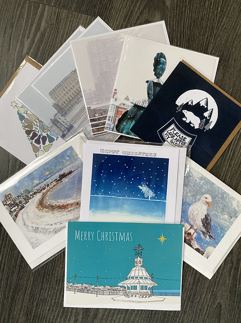 10 pack of selected local Christmas Cards