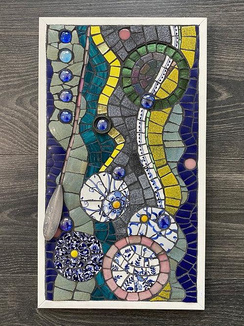 Strangled Sea Anenome mosaic by Kate Baker