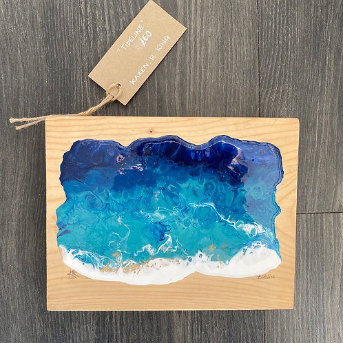 Shoreline (resin block) by Karen H King