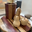 Thumbnail: Hand made turned wood cheeseboard and wine holder