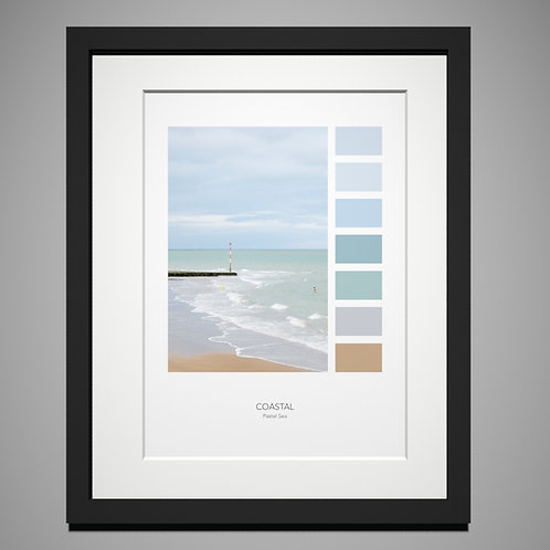 Pastel Sea Palette Print by Eleanor Marriott