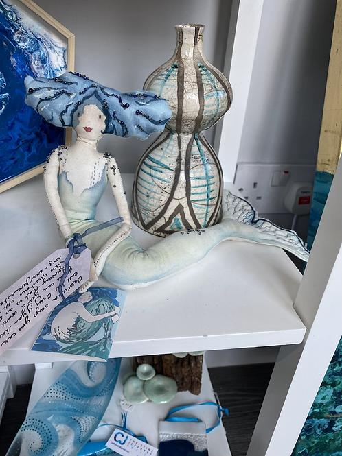 Handmade stitched Mermaid by Annie Taylor