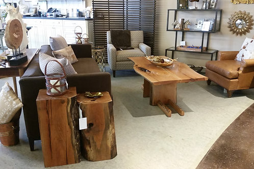 Cherry Slab Coffee Table on Sled Runners