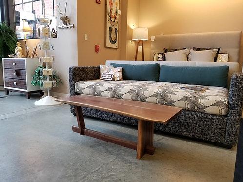 Nakashima inspired-  cantilevered walnut coffee table