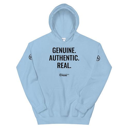 Unisex - Genuine. Authentic. Real. Hoodie