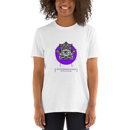Vintage Act in Faith Not in Fear Short-Sleeve Unisex T-Shirt