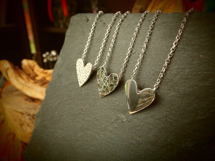 """""""Shiny"""" Little Heart Necklace (each necklace sold separately)"""