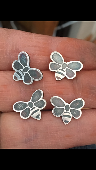 Little Bee Stud Earrings (one pair)