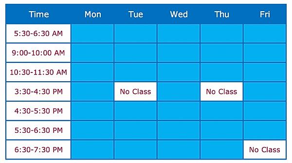 CrossFit Dracut Class Schedule