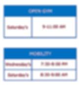 CFD Open Gym Schedule - October 2019 Upd