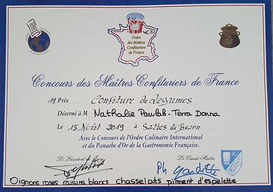 Ord des Maîtres confituier de France