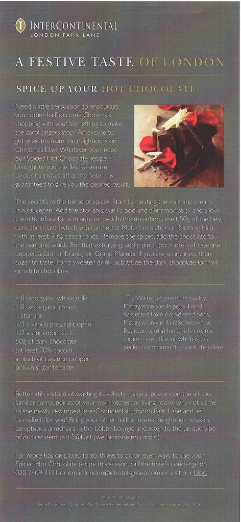 InterContinental Park Lane email copy
