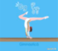 Descoperă România de la A la Z   Gimnastică   ilustrație gimnastică