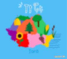 Descoperă România de la A la Z   țară  ilustrație țară