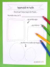 Materiale didactice cu tema Paștelui, fișă pentru clasă iepurașul de Paște