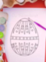 Pagini de colorat cu ouă încondeiate, ou tradțional , ou încondeiat, pagină de colorat Paste