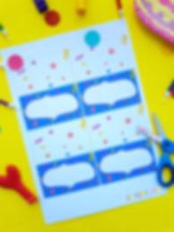 Etichete pentru petreceri | Etichete | Petreceri copii | Zmeișorii