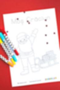 Pagină de colorat Moș Crăciun