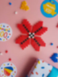 margele perlate cu model traditional | hama beads model romanesc | modele traditionale | zmeisorii