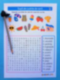 wordsearch vară | supă de cuvinte | materiale didactice