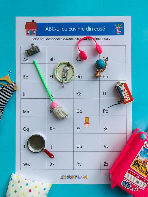 ABC-ul cu cuvinte din casă