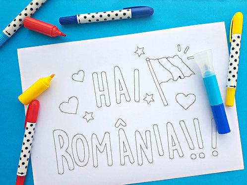 Pagină de colorat Hai România!