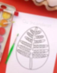 Pagină de colorat ou încondeiat, continuă desenul