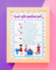 Poster ilustrat pentru copii regulile în bucătărie