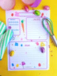 Șablon pentru rețete de Paște Zmeișorii. Un șablon drăguț pentrusărbătorile de Paște, de adăugat în caietul de rețete.