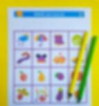 bingo de toamna | materiale didactice