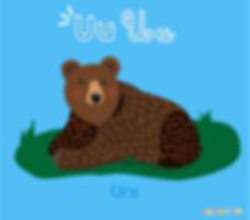 Descoperă România de la A la Z   urs   ilustrație urs