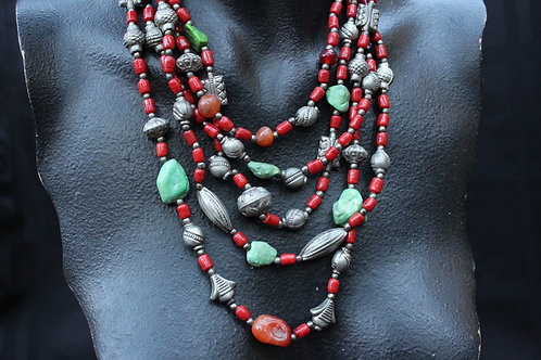 Tibetan Green Turquoise Necklace