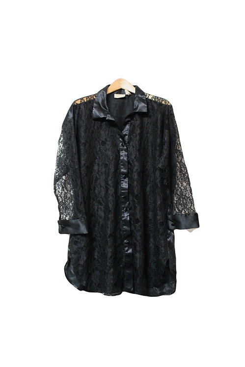 90s VS Lace Button Up/Robe - L/XL