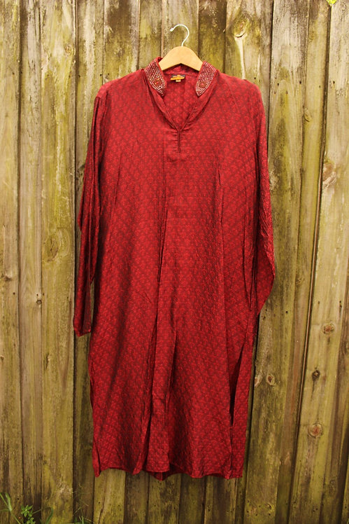Indian Style Beaded Tunic - L