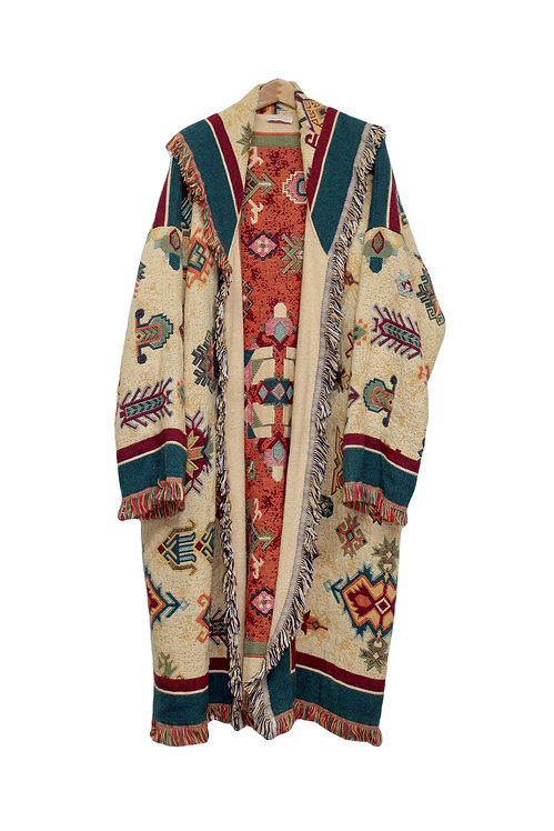 90s Southwestern Blanket Coat - Plus Size