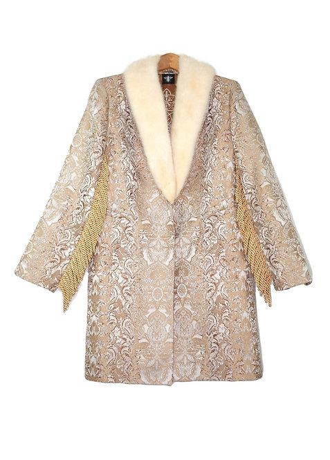 Upcycled Fringe & Fur Coat - M/L