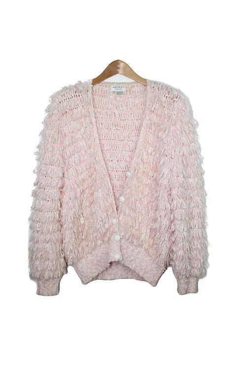 90s Loop Crochet Shag Sweater - S/M