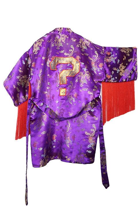 Upcycled Fringe Tipper ? Kimono - OS