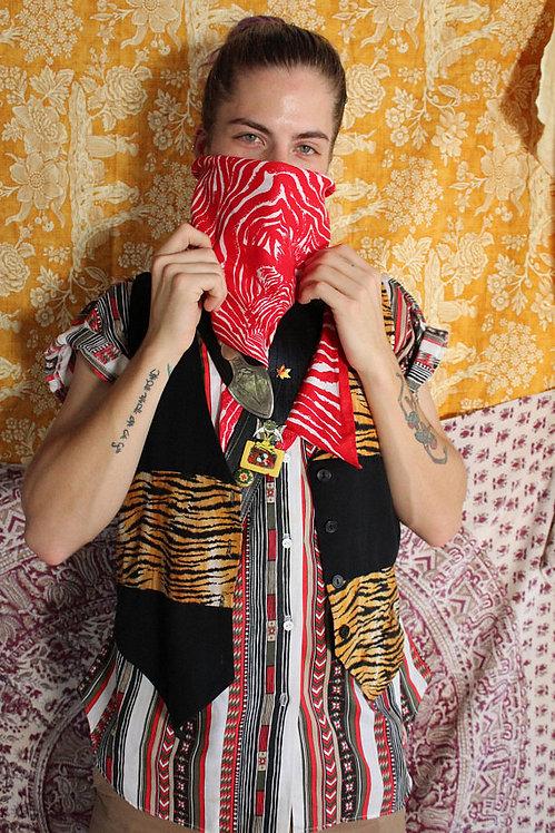 Oversized Red Zebra Dust Mask