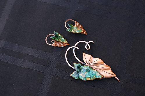RARE Renoir Matisse Hawaii Brooch & Earrings Set