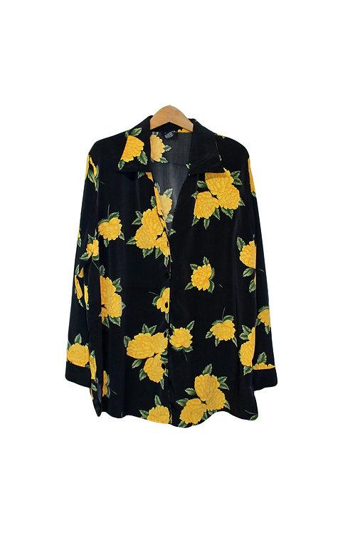 90s Roses Button Up Shirt - XL/XXL+