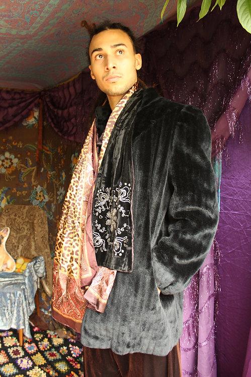 80s Faux Fur Coat - L/XL