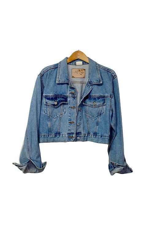 90s Cropped Jean Jacket - L/XL