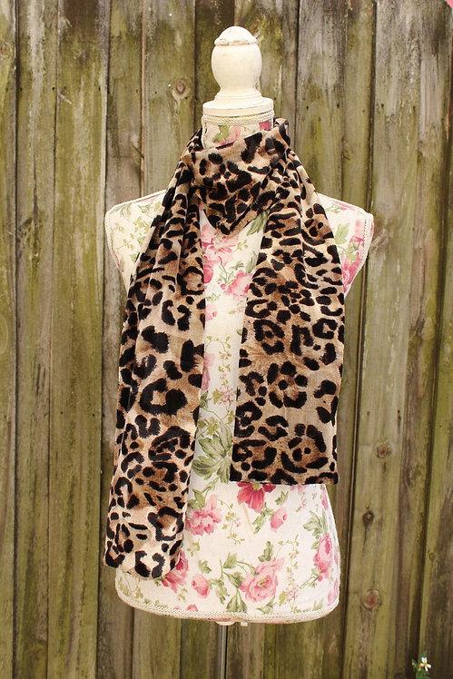 Velvet Cheetah Print Scarf